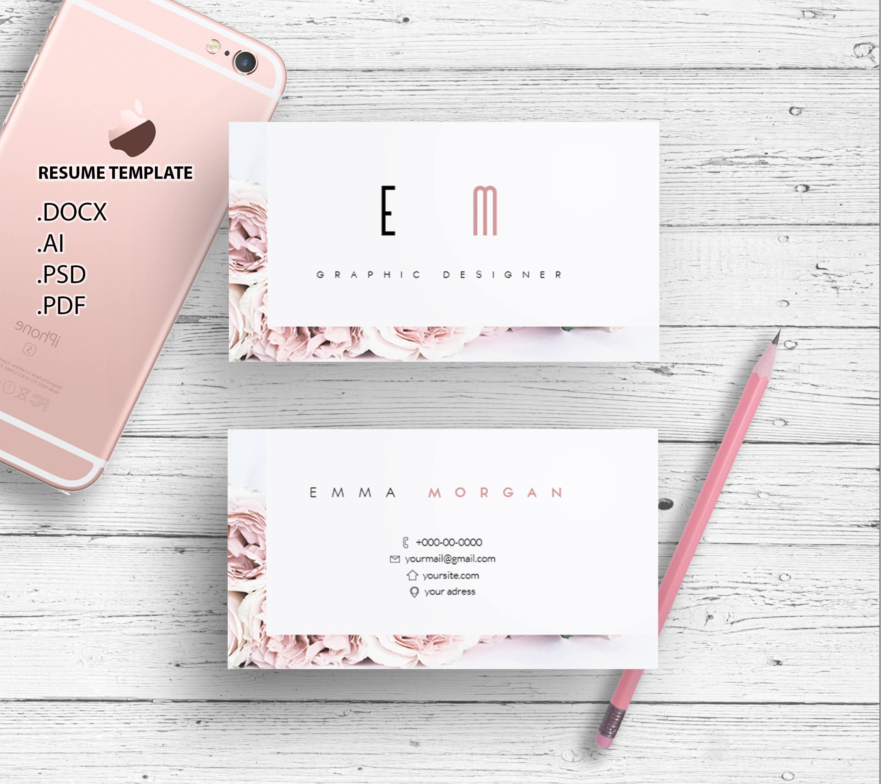 Roses business card template / creative / card design / morden ...