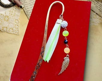 Clear Moon feather bookmark