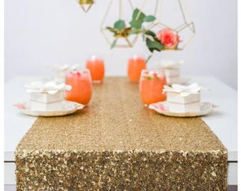 Gold Sequin Table Runners Great Gatbsy Wedding Gold Table Runner-Gold Event Party Supplies Graduation Decoration Birthday Baby Shower