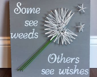 Dandelion wishes string art
