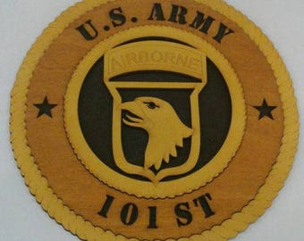 101st Airborne Wall Plaque Wooden Model