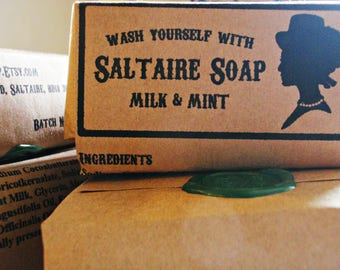 Milk and Mint Natural Cold Processed Soap by Saltaire Soap
