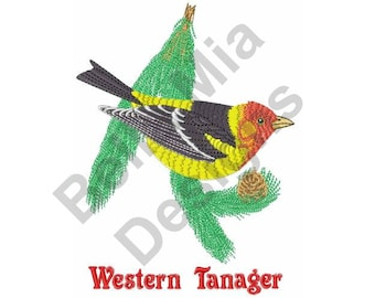 Bird - Machine Embroidery Design, Western Tanager