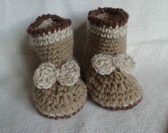 crochet baby booties size 3/6 months