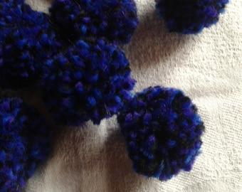 tassels Handmade wool hand diameter 3.5 cm