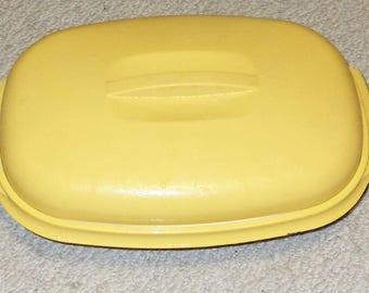 Vintage Harvest Gold Tupperware 3 Piece Vegetable Steamer Set #1273-8