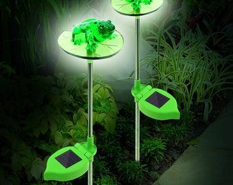 Solar frog lights - set of 2