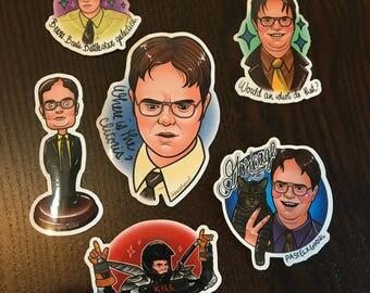 Dwight Schrute stickers bundle