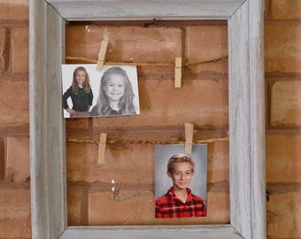 Distressed Farmhouse String Frame Photo Display