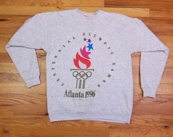 Vintage 90s 1996 Atlanta USA Olympic Sweatshirt shirt size Medium M