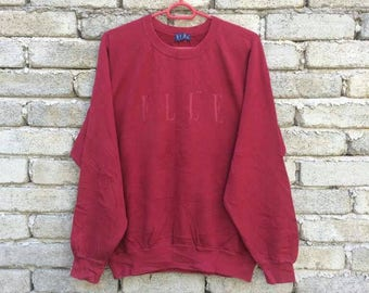 Elle sweatshirt crew neck pull over red color adult size M