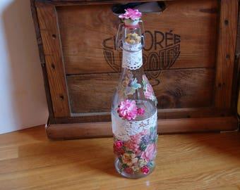 Bottle decoration, floral