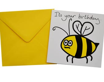 SINGLE MEADOW animal birthday card with coloured envelope