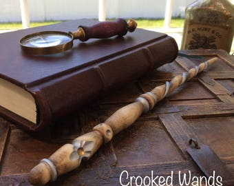 Hand Carved Willow Wand // Hand Carved Wand // Harry Potter Wand // Pottermore // Magic Wands