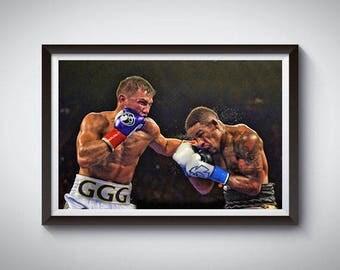 Boxing Inspired Art Poster Print, Gennadi Golowkin GGG Poster