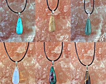 Collier avec pierre semi-précieuses