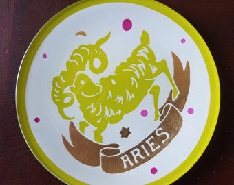 Aries zodiac decorative plate