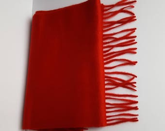Red Cashmere Scarf from Scotland
