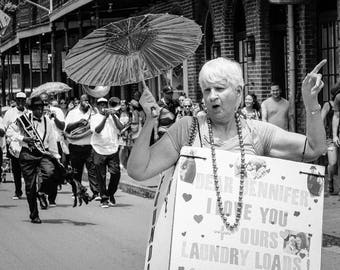 Dear Jennifer  /  New Orleans Mardi Gras Photography Giclee Print