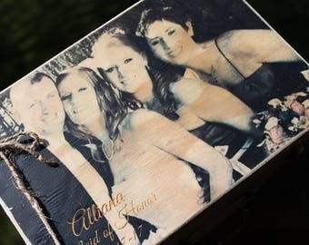 Cool Groomsmen Gift, Groomsman Gift, Fathers Day Gift, Dad Gift, Gift for Her, Picture on a Box, Bridal Party GIft, Gift for Him, Gift Box