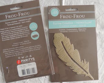 Fusible creative shape pattern feather all that glitters gold glitter