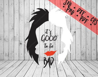 Cruella de Vil Face SVG Disney Villain png pdf dxf eps