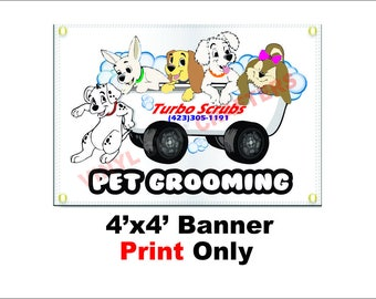 4'x4' Custom Banner: Full Color Print===ONE SIDED ONLY=== other sizes available by request