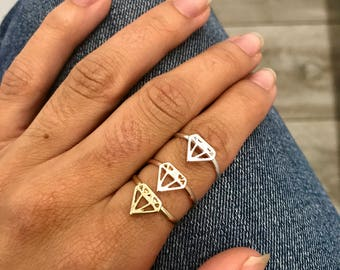 Fancy Diamond Ring three colors