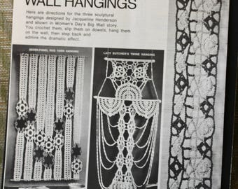 Three Crocheted Wall Hangings Pamphlet