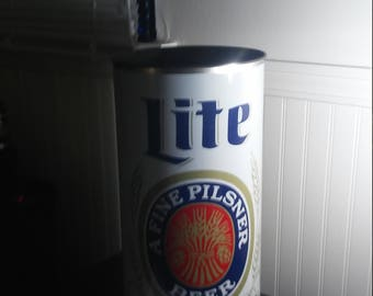 Vintage 80's era Miller Lite Trash Can