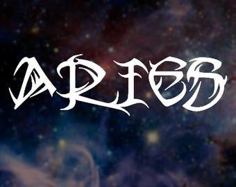 Aries Name Decal