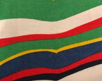 Multicolor Stripe - Cotton Fabric - Vintage