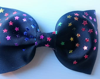 Large ribbon hair bows