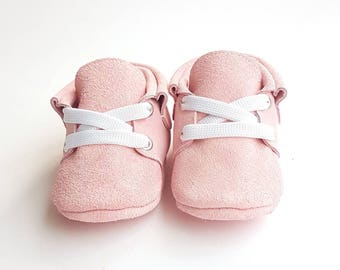 Baby moccasins pink