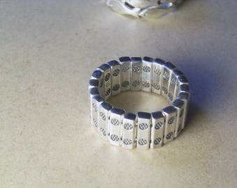 Multi pieces silver ring - handmade