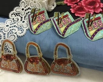 cosmetic bag and handbag sequin patch/bag patch /iron on patch /cute gorgeous patch/exquisite patch/girl patch/DIY