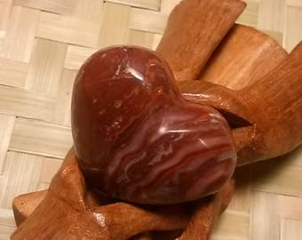 Fossilized wood BFC1 - 40,60 Gr heart