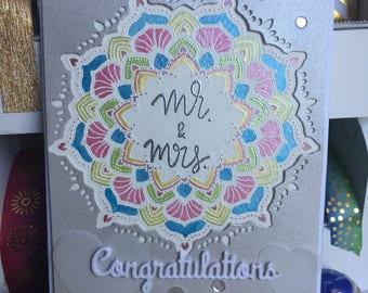 Wedding Card Hand Painted Mandala