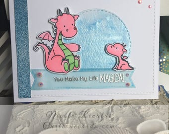 Friendship Card with Dragons