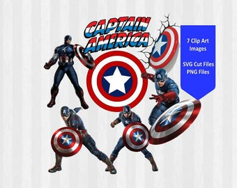 Captain America Bundle, Captain America Digital Clip Art, Captain america clipart, avengers clipart, SVG Files for Silhouette Cameo, Cricut,