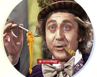 Willy Wonka Dab Mat. Willy Wonka Glass Mat. Dab Mat. Glass Mat. Willy Wonka. Marijuana Mouse Pad. Mouse Pad. Weed Mouse Pad. Concentrates.
