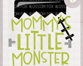 Halloween SVG File, Mommy's Little Monster Svg, Trick or Treat Svg, Monster Svg, First Halloween, Halloween Svg file for Silhouette Cricut