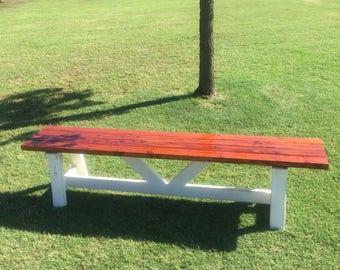 Hand built Farmhouse bench