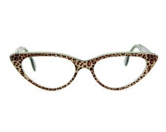 Cat eye glasses Beautiful sexy large contemporary 'BARDOT' in shimmering 'Luminous Jaguar' acetate