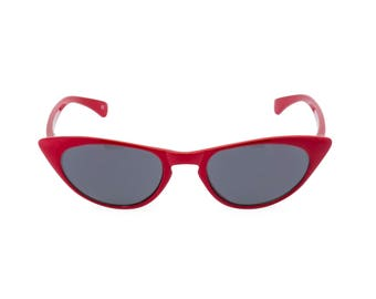 1950s 60s style CAT EYE  sun readers NEW made to original vintage design 'Peggy'' Rockabilly Lipstick Red