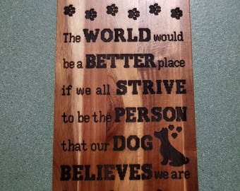Custom Engraved Rich Dark Wood Acacia Serving Board - World A Better Place Design