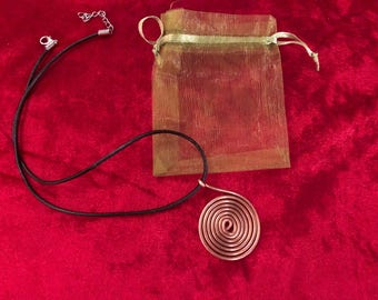 Copper Coil , Orgone Energy Necklace.