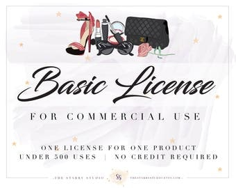 Basic License for Commercial Use of Designer Clip Art & Graphics