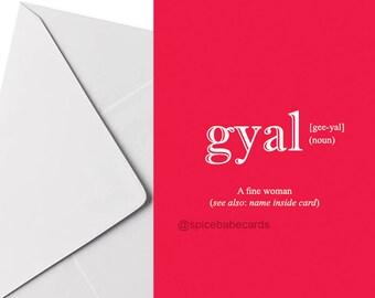 Gyal Wörterbuch Definition Karte   Geburtstag, Jubiläum, Valentinstag,  Liebe | Stormzy, Schmutz