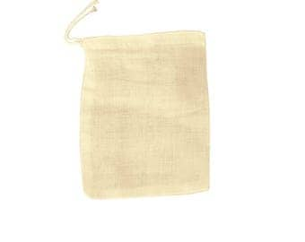 "30 pcs 4""x6"" Unbleached Natural Cotton Muslin Drawstring Bags, 100% Cotton Woven Bags,Safe,Non-Toxic - 10x15 cm Muslin Bags"